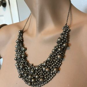 Urban Outfitters Jewelry - UO SILVER BALL BIB NECKLACE